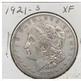 1921 S XF Morgan Silver Dollar