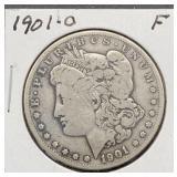 1901 O F Morgan Silver Dollar