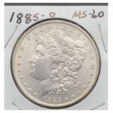1885 O MS60 Morgan Silver Dollar