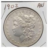 1902 AU Morgan Silver Dollar