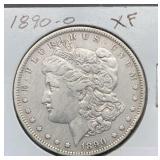 1890 O XF Morgan Silver Dollar