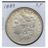 1889 XF Morgan Silver Dollar
