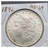 1896 MS64 Morgan Silver Dollar