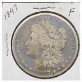 1897 F Morgan Silver Dollar