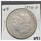 1896 S VF Morgan Silver Dollar