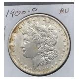 1900 O AU Morgan Silver Dollar