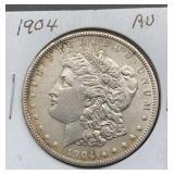 1904 AU Morgan Silver Dollar