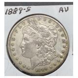 1889 S AU Morgan Silver Dollar