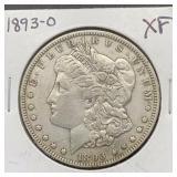 1893 O XF Morgan Silver Dollar