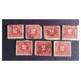 Documentary 2 cent Stamps QTY 7