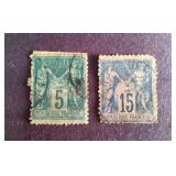 France Stamps QTY 2