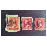 United States 2 cent Stamps QTY 3