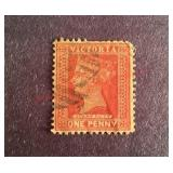 Victoria One Penny Stamp