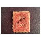Paraguay 20 Centavos Stamp