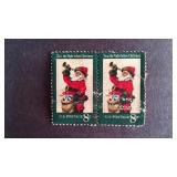 Christmas Santa 8 cent Stamps QTY 2