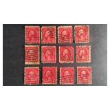 Washington 2 cent Stamps QTY 12