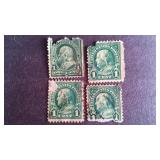 Franklin 1 cent Stamps QTY 4