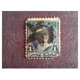 Franklin 1 cent Stamp