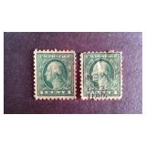 Washington 1 cent Stamps QTY 2