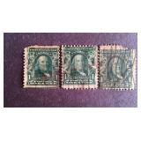 Franklin 1 cent Stamps QTY 3