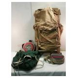 Camping Backpack with Canteens