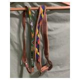 2 beaded leather belts - kids or very skinny