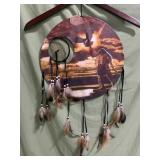 New dream catcher with Native American and eagle