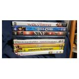 Lot of 8 DVDs including The Wolverine,  The Love