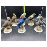 7 Lefton China birds