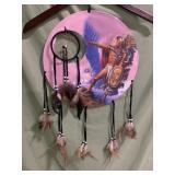 New dream catcher Native American pink background