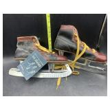 Vintage ice skates with tags