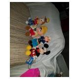 4 vintage stuffed cartoon characters