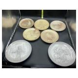7 frankoma religious plates
