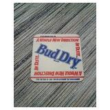 Bud dry bar coasters official 1989 printed with 2