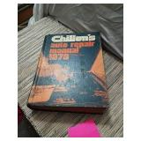 Chiltons auto repair manual,for 1978 cars ,from