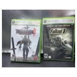 2 xbox360 games - ninja gaiden II & fallout 3