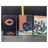 Chicago bears media guides - 1978, 88, & 96