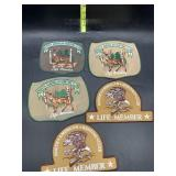 5 North American hunting club life member patches