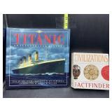 Titanic book and civilizations factfinder book