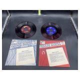 2 red 45s vinyl records - square dances with