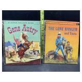 2 little golden books - gene autry & the Lone