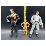3 wrestling action figures - 2003 WWE undertaker