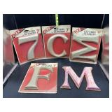 7in letters and numbers - paintable, stainable,