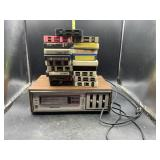 Soundesign 8 track player and tapes