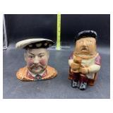 2 staffordshire character jugs - Henry VIII