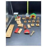 Wooden train track accessories