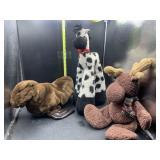3 stuffed animals