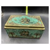 Metal ship trinket box