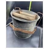 Vintage aluminum mop bucket