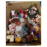 Vintage Christmas ornaments and lights